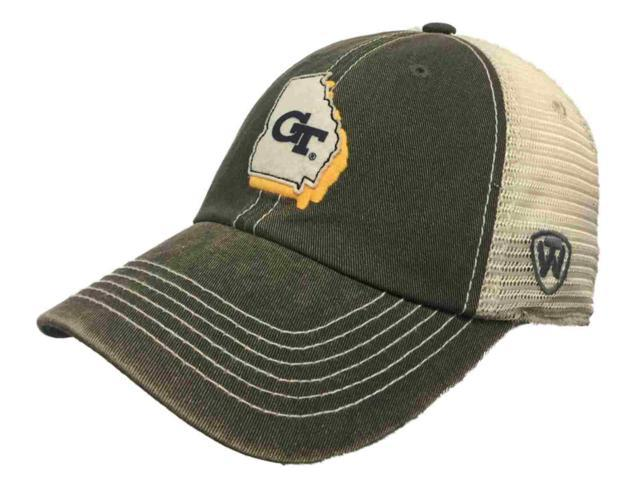 official photos 32759 86f43 Georgia Tech Yellow Jackets TOW Gray Mesh United Adjustable Snapback Hat Cap