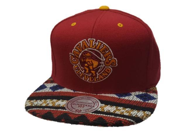821ab951002 Cleveland Cavaliers Mitchell   Ness Red Tribal Adj. Flat Bill Snapback Hat  Cap