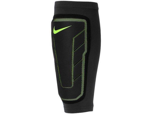9bd8397b0e Nike Pro Combat Hyperstrong Black & Neon Green Compression Shin Sleeve ...