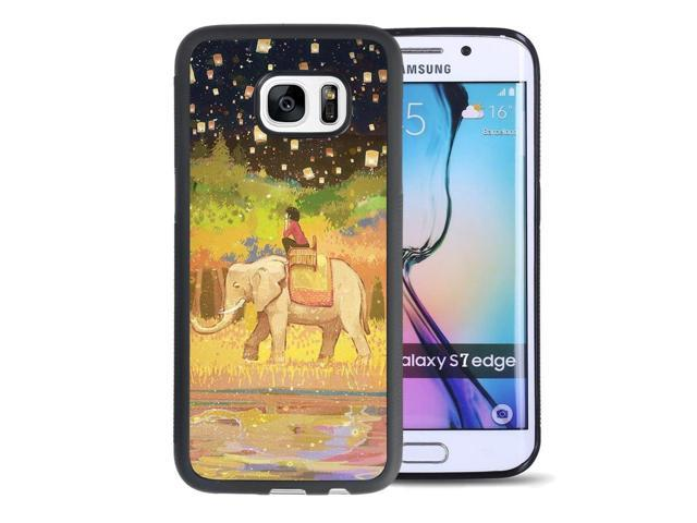 info for 54ed4 02f52 Samsung Galaxy S7 edge Case Anti-Scratch & Protective Cover,Beautiful  Illustrations Elephant Case-Onelee - Newegg.com