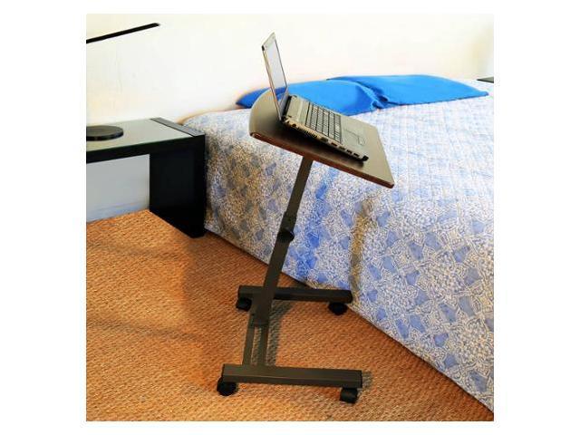 Charmant Seville Classics Mobile Laptop Desk Cart, Rich Cherry, Model# WEB162