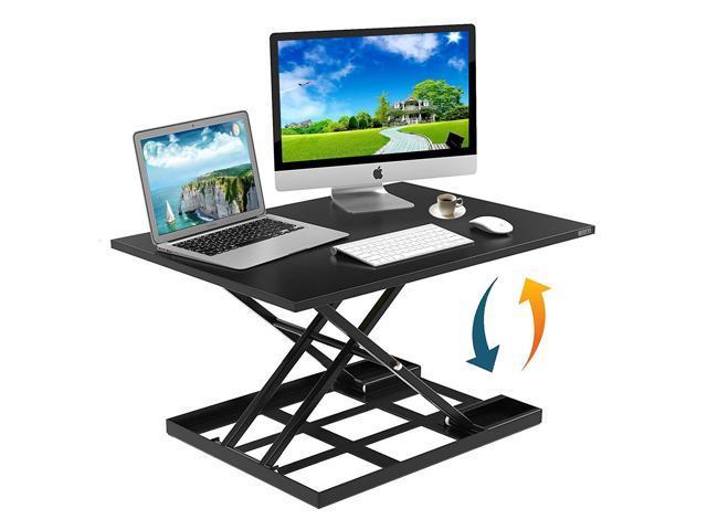 Height Adjustable Standing Desk Converter Ergonomic Sit Stand Black