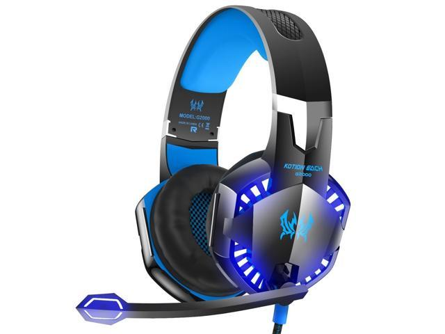 VersionTech G2000 Stereo Gaming Headset for Xbox One PS4 PC, Surround Sound  Over-Ear Headphones with Noise Cancelling Mic, LED Lights, Volume Control