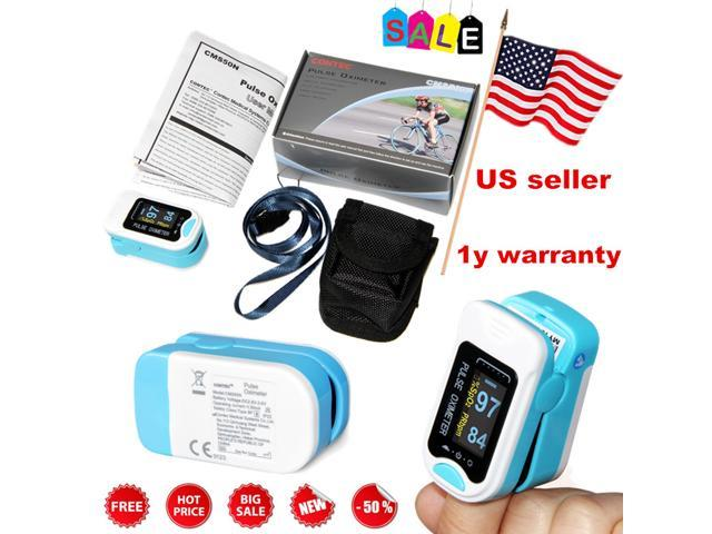 OLED Finger tip Pulse Oximeter SpO2 Blood Oxygen Meter Sensor Tester Heart  Rate Patient Monitor CONTEC - Newegg com