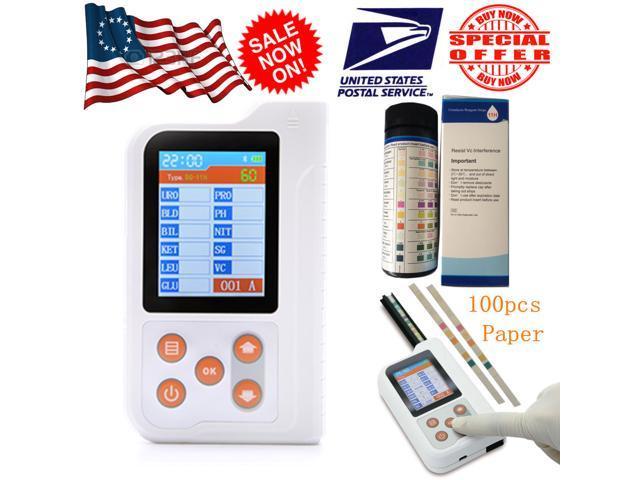 BC401 Portable Urine Analyzer Urinalysis Glucose Meter 11 parameter +100pcs  reagent test strip,Bluetooth - Newegg com