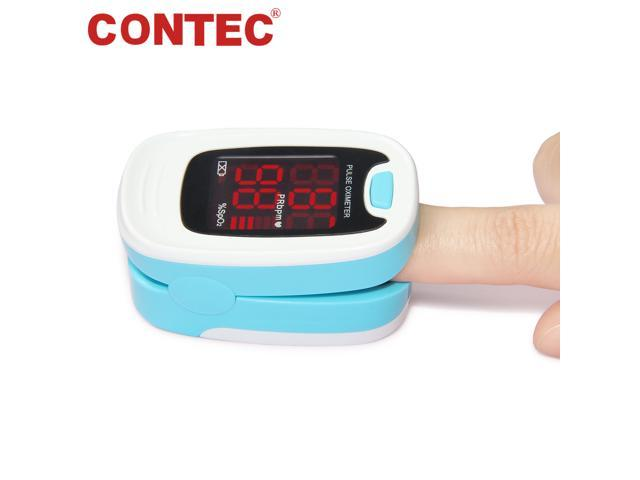 CONTEC Finger Pulse Oximeter LED Blood Oxygen Saturation Monitor Heart Rate Monitor