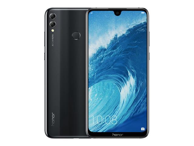 "Huawei Honor 8X 64GB  4GB RAM 6.5"" HD 4G LTE GSM (FACTORY UNLOCKED) - Network Only Free Case and Free US charger adapter included"