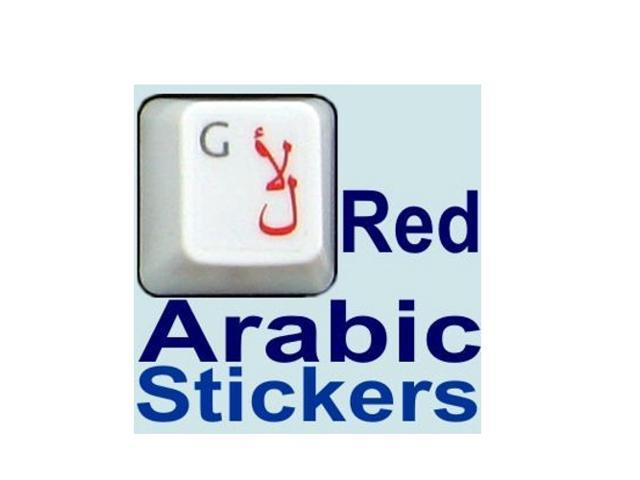 HQRP Arabic QWERTY Keyboard Stickers on Transparent Background for All PC  MAC Desktops & Laptops with Red Lettering - Newegg com