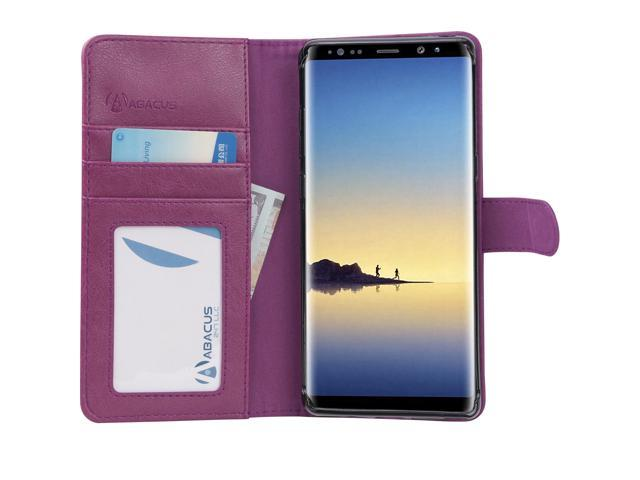 hot sale online 191c8 4876e Abacus24-7 - Note 8 Phone Case, Samsung Galaxy Note8 Leather Wallet Case  with Flip Cover, Credit Card Pockets and Built-In Stand [Purple] -  Newegg.com