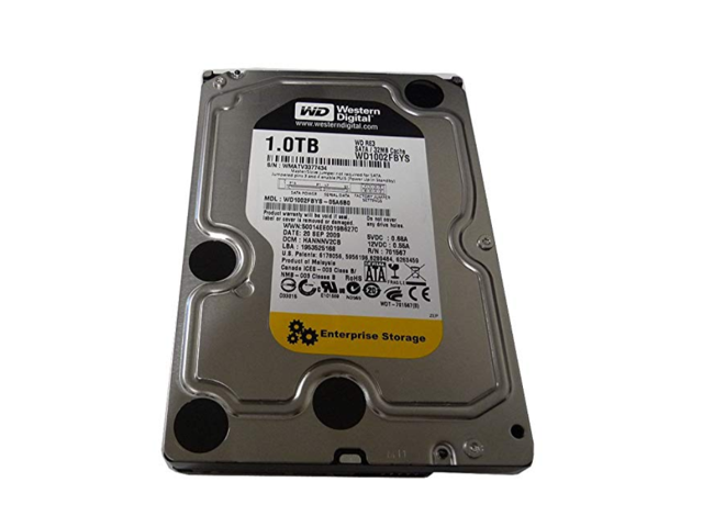 "Western Digital Recertified 750GB WD7502ABYS 3.5/"" HDD Drive WD RE3 SATA 3Gb//s"