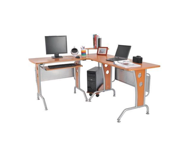 Homcom 67 Modern L Shaped Corner Computer Desk Office Workstation Pc Table With