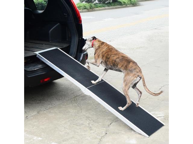Dog Ramp For Car >> 72 Folding Pet Ramp Portable Dog Cat Stairs Vehicle Car Truck Pet