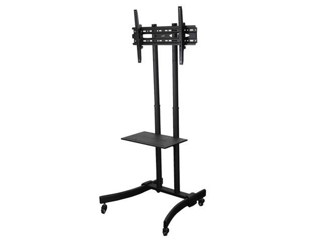 Navepoint Rolling Tv Stand Mobile Tv Cart Adjustable Height With