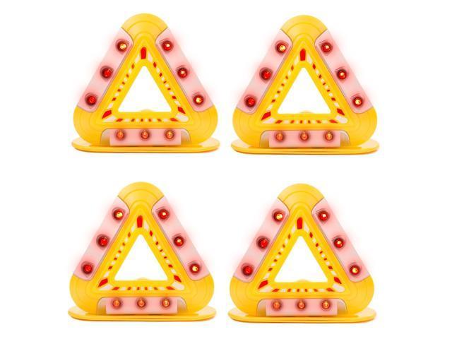 4 Pack Triangle Roadside Emergency Light – Safety Roadside Hazard Warning  Lights - Triangle Lights - Newegg com