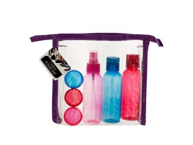 6ed2d563a8ef 123-Wholesale: Set of 12 Travel Container Set in Zipper Case (Travel Goods,  Travel Bottles & Containers) - Newegg.com