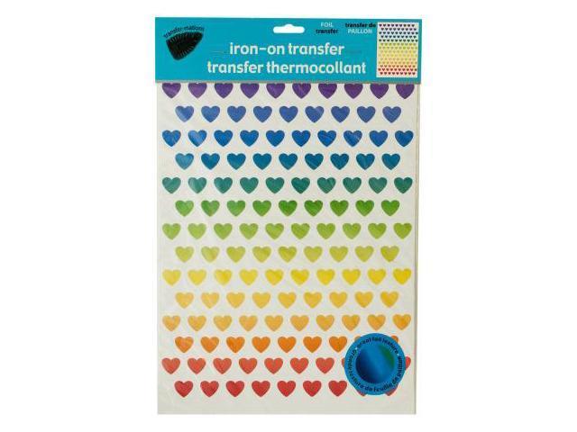 123-Wholesale: Set of 144 Iron-On Foil Rainbow Hearts Transfers Set  (Crafts, Craft Embellishments) - Newegg com