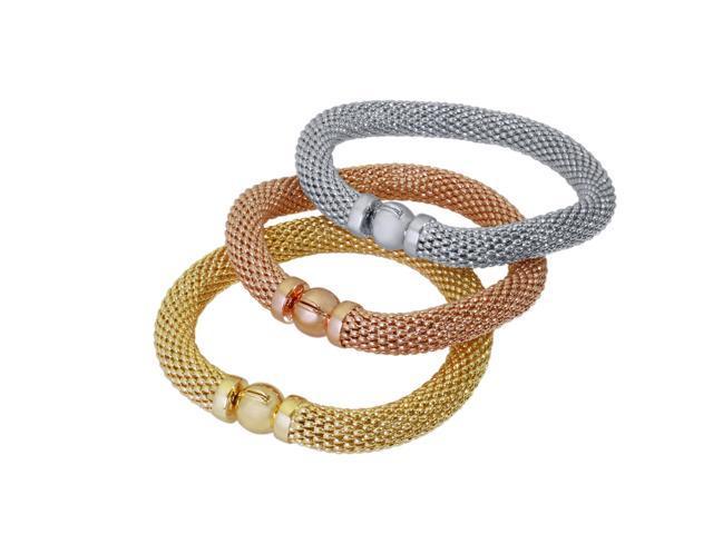925 Fancy Italian Bracelets, ROSE GOLD, Made In Italy - Newegg com