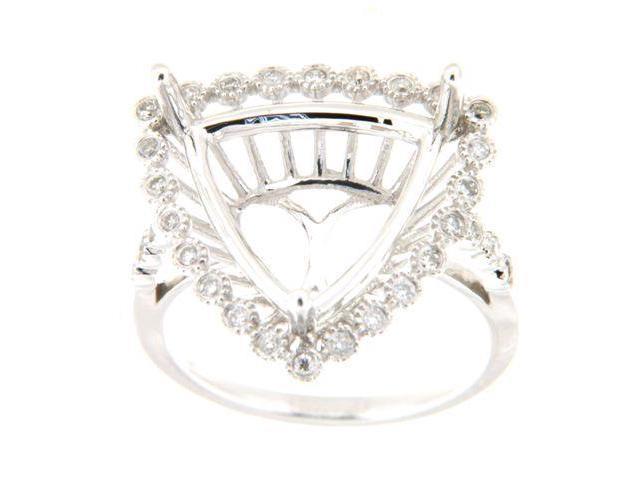 0 25 Ctw Diamond 14K White Gold Ladies Trillian Semi Mount Ring - Newegg com