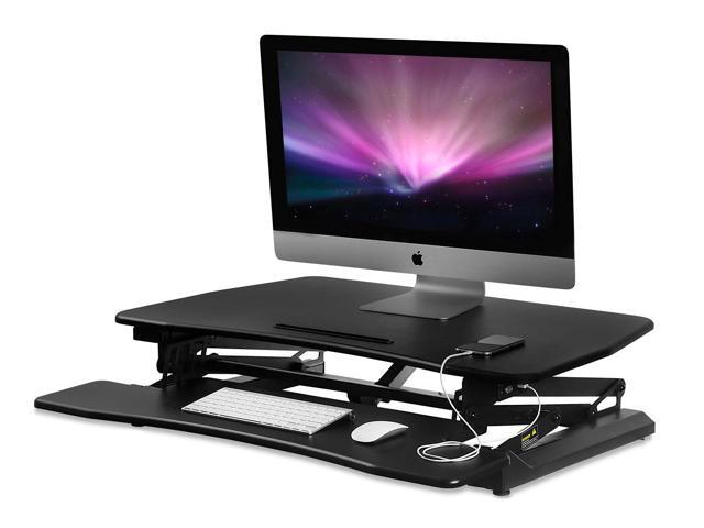 Mount It Electric Standing Desk Converter With 35 Wide Platform