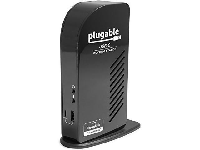 Plugable Triple Monitor Ultimate Docking Station with Power Delivery - USB-C to HDMI, DisplayPort