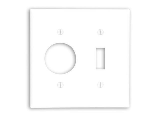 leviton 88007 white two gang combination toggle switch 1 406 u0026quot  single receptacle wall plate