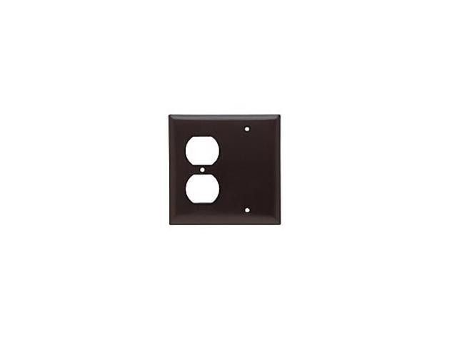 Pass And Seymour Sp138 Brown Combination Wallplate 1