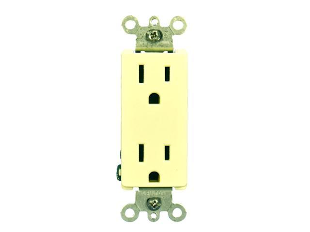 Leviton Almond Decora Receptacle Duplex Wall Outlet 15A 125V 5325-A -  Newegg com