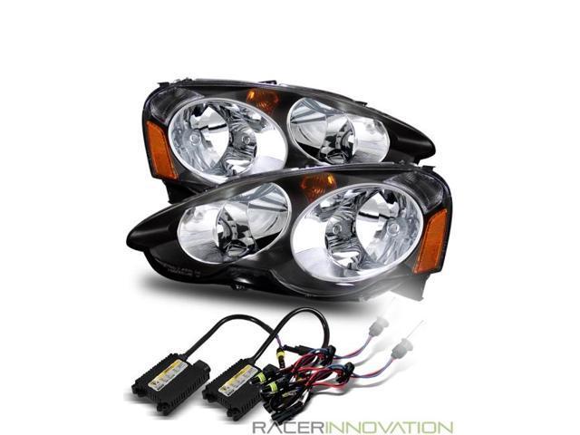 K HIDFor Acura RSX DC Crystal Headlights JDM Black Type - Acura rsx headlight bulb