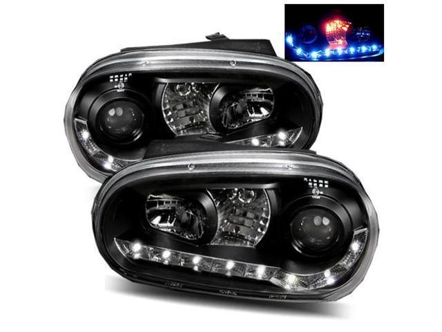For 99 05 Vw Golf Gti 02 Cabrio Mk4 Black Led