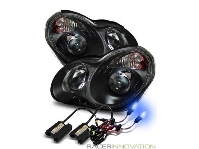 10000K HID For 01-05 Mercedes W203 4DR C230/C240/C320 Projector Headlights  Black - Newegg com