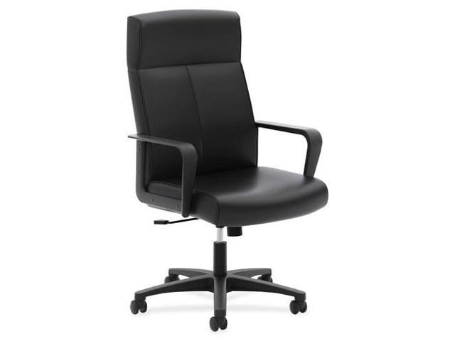 Basyx VL604 Series High-Back Executive Chair Black SofThread Leather VL604SB11