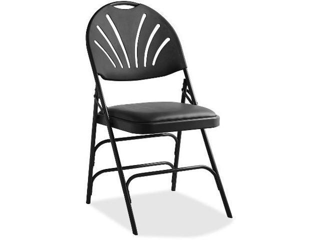 Samsonite XL Fanback Steel and Vinyl Folding Chair - Vinyl Black Steel Seat - Polypropylene  sc 1 st  Newegg.com & Samsonite XL Fanback Steel and Vinyl Folding Chair - Vinyl Black ...
