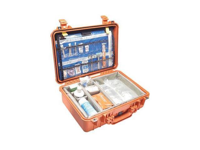Pelican PC1500 EMS Organizer Watertight Hard Case w/Dividers & Lid Org -  Orange - Newegg com