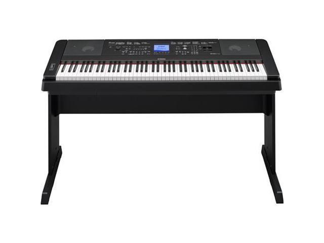 yamaha dgx 660 88 keys portable grand digital piano black dgx660b. Black Bedroom Furniture Sets. Home Design Ideas