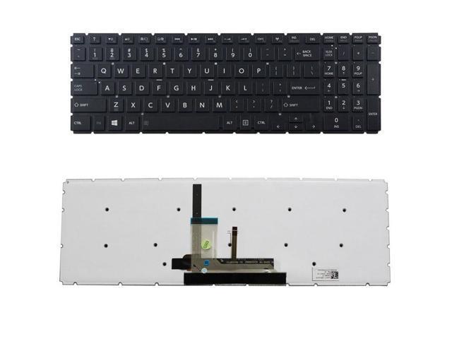 New US Black Backlit Laptop Keyboard No-Frame For Toshiba Satellite C55-C5221W C55-C5222W C55-C5302W C55-C5337K C55-C5338K C55-C5339K Backlight Light Notebook