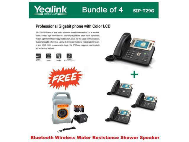 Yealink SIP-T29G Enterprise 16 Line HD IP Phone PoE suppor+ FREE Bluetooth  Wireless Water Resistance Speaker for Shower - Newegg com