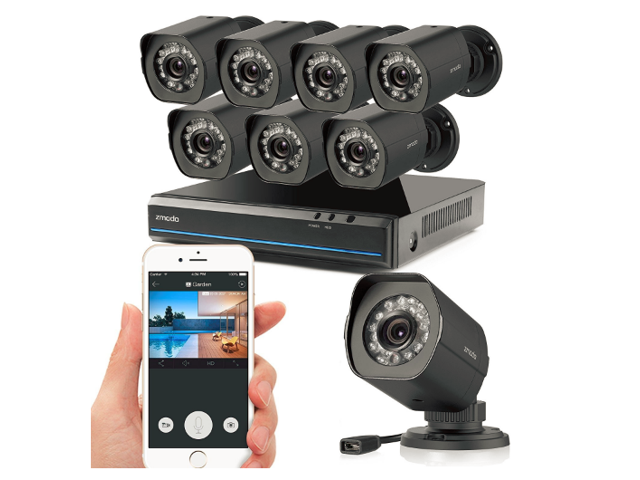 Zmodo 8 CH 720p NVR Simplified PoE Outdoor Indoor Security Camera System -  Newegg com