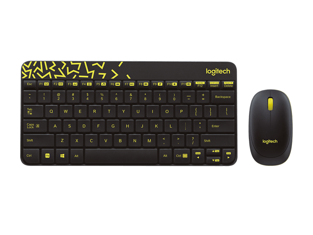 315085ac9b8 Logitech RF Wireless Keyboard and Mouse Combo MK240 NANO Receiver 12  Function Keys 2.4GHz 1000DPI