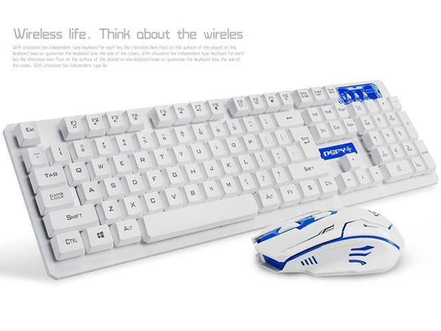 4d4e8c1e46b CORN 2.4GHz Wireless Gaming Keyboard & Mouse With Unique Ergonomic Design  Suspension Buttons Energy Saving