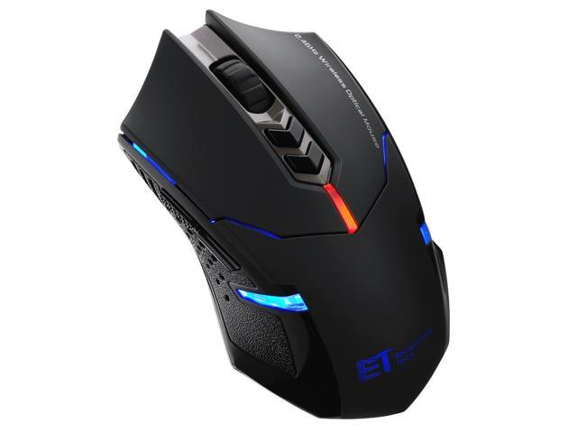 30f538cd043 Pictek 2400DPI Adjustable Game Mice 2.4G Wireless Gaming Mouse with  7-Button,Quiet