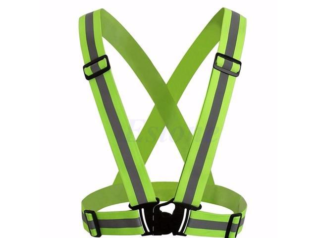 Security Outdoor Night Safety Reflective Vest Belt High Stripe Straps Night Running Jogging Biking Back To Search Resultsapparel Accessories