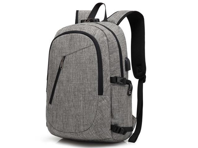 c8fb631e9251 Laptop Backpack, Travel Computer Bag for Women & Men, Anti Theft Water  Resistant College School Bookbag, Slim Business Backpack w/ USB Charging  Port ...