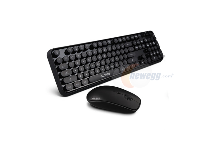 4a5fbd3709d SADES V2020 Ergonomic Design, Cool Exterior Punk Fashion Retro Round Key  Caps 2.4GHz Wireless