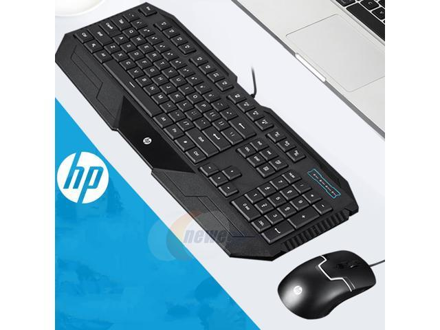hp gk1100 mechanical feeling cool exterior waterproof usb plug wired keyboard and mouse combo. Black Bedroom Furniture Sets. Home Design Ideas
