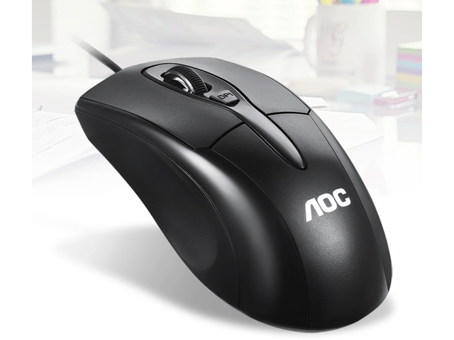AOC MS110 Ergonomic Design Wired 1600DPI 4-button Optical Mouse For Office  And Game, Support PC and Laptops - Black - Newegg com