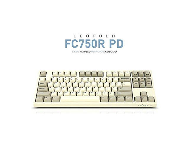 533200d5631 Leopold FC750R PD 87keys High-end Mechanical Keyboard MX Cherry Switch  1.5mm PBT (White/Grey, Red Switch) - Newegg.com