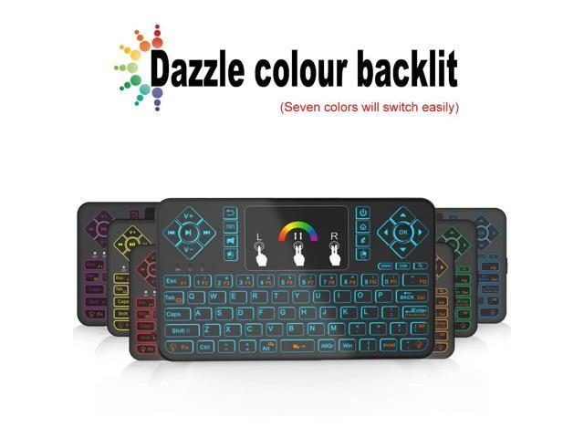 Mini Wireless Keyboard and Touchpad Mouse Combo with Colorful Backlit, Tripsky Q9 Colorful Backlit,