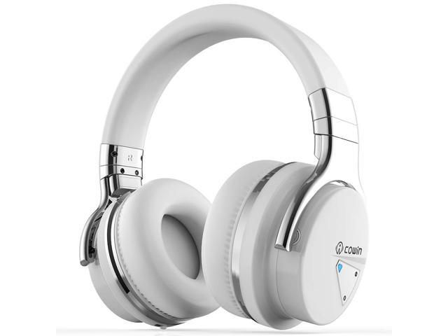 COWIN E7 Active Noise Cancelling Headphones with Bluetooth and Mic - 30H  Playtime for Travel, Work, TV, PC, and Cellphone-White - Newegg com