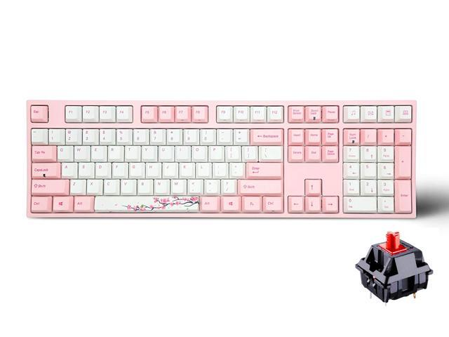 8d3f68a0c20 Varmilo Gaming 108 Key Cherry Red Mx Switches Sakura White Keycaps and Pink  Keycaps Dye Sublimation