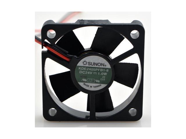 Square Cooler of SUNON 50*10mm KDE2405PFB1-8 with 24V 1 0W 2-Wires 2 Pins  case fan for inverter converter - Newegg com